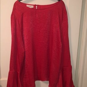 Red long sleeve soft shirt